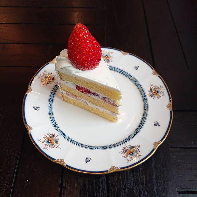 いちごのショートケーキがございます。ティータイムにどうぞ!##カフェオランジュ #いちごのショートケーキ #山本有三記念館隣 #三鷹カフェ #吉祥寺カフェ