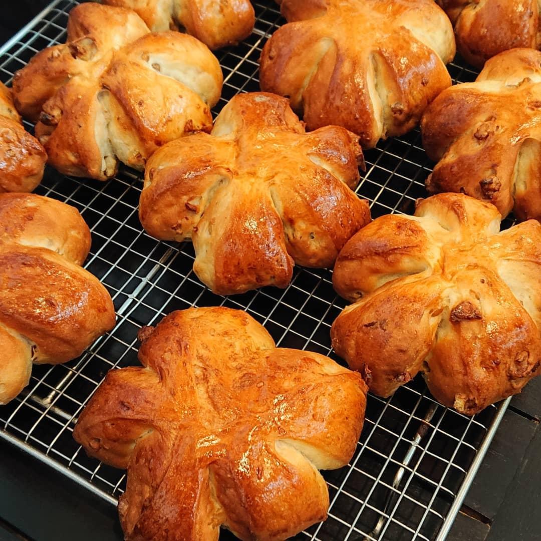 パンはクルミのパンがございます!#クルミのパン #自家製パン #テイクアウト #カフェオランジュ #風の散歩道 #山本有三記念館隣 #三鷹カフェ #吉祥寺カフェ